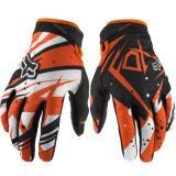 La guida alla moda arancione di motocross mette in mostra i guanti per la corsa (MAG22)