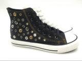 女性(ET-LD160135W)のための中間によって切られる白い偶然のズック靴