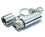 건전지 모양 금속 USB 기억 장치 지팡이