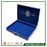 Cadre cosmétique en cuir bleu d'unité centrale de qualité