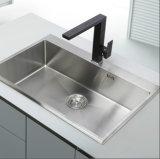 Golpecito de agua negro del fregadero de cocina del eslabón giratorio del color