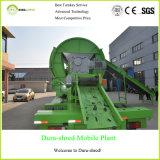 Doppia macchina favorevole all'ambiente di riciclaggio dei rifiuti della trinciatrice dell'asta cilindrica