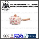 Het Kamperen van het Overdrukplaatje van het Embleem van het Porselein van de fabriek de Pot van het Email met het Deksel van het Glas