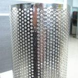 Tubo filtrante perforado de la hoja del níquel del acero inoxidable 304 de la alta calidad 12 ''
