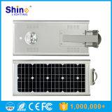 人間の赤外線センサーが付いている1つの太陽街灯のSunpowerの太陽電池パネル15W LEDすべて