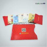 Mangas de la tarjeta de bloqueo de RFID para la tarjeta de crédito y pasaporte