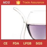 Vampiro de borossilicato alta vinho tinto de vidro com palha de Tubo potável
