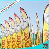 Pubblicità della bandierina quadrata, bandierina verticale, bandiera volante, bandiera della bandierina di spiaggia