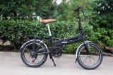 Bike миниой складчатости 20 дюймов электрический/спрятанный велосипед батареи электрический