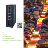 Сдвоенный волоконный LC/SFP 20км 12V~36V промышленной сети коммутатор Fast Ethernet