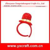 Décoration de Noël (ZY14Y34-3-4 16CM) Chapeau de chapeau de Noël