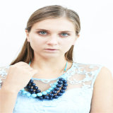 Neuer Entwurfs-blauer Ton-Acrylraupe-Form-Schmucksache-Halskette