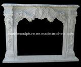 Mensola del camino di marmo del camino della statua (SY-MF036)