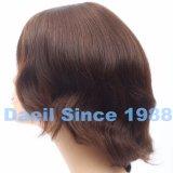 Breve parrucca legata di 100% mano ondulata con i capelli umani cinesi di Remy