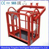 Plate-forme de travail/gondole suspendues pour la machine de nettoyage de guichet