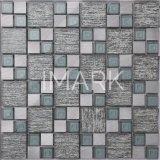 Square Mezcla de vidrio pulido azulejos de mosaico de aluminio para pared Backsplash