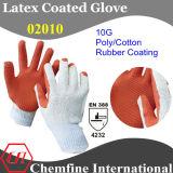 Латекс с покрытием трикотажные перчатки