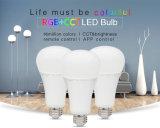 Lámpara elegante de la bombilla de la alta calidad 12W RGB+CCT LED