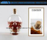 Контейнер вина толщиного стеклянного черепа форменный с пробочкой