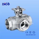 L Port трехходовой шариковый клапан с пусковой площадкой установки ISO5211