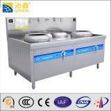 Cocina del Wok de la inducción de las hornillas del doble del acero inoxidable con la visualización de LED