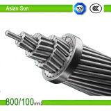 Conductor de aluminio Conductor de acero reforzado / ACSR / Conductor desnudo