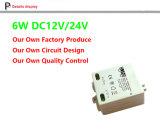 사각 5W 의 6W LED 전력 공급 일정한 전압 LED 운전사 12V 24V DC 전원 공급