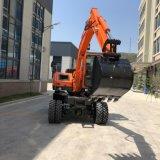 China directamente de fábrica Mini escavadeiras de rodas para venda