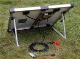 10mケーブルとのキャンプのための80W携帯用太陽電池パネル
