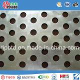 Folha de metal perfurada de aço redondo de aço inoxidável