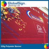 Banderas de tela impresas a todo color 220g Publicidad Banner de poliéster