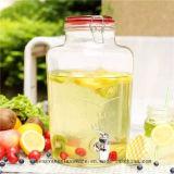 Heet verkoop De Kruik van de Opslag van het Glas van de Kruik van het Vruchtesap met het Verzegelen van het Keukengerei van het Deksel