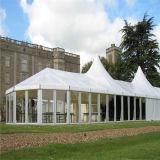 Toile en gros bon marché en verre de stationnement en aluminium imperméable à l'eau extérieur de crête élevée Wedding la grande tente imperméable à l'eau extérieure bon marché d'événement de PVC 20X50m