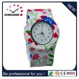 Relógio das mulheres dos homens do esporte do silicone de quartzo da batida para a promoção (DC-1021)