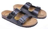 2012 Mesdames Cork sandale PU Chaussures supérieur (SDB003-1)