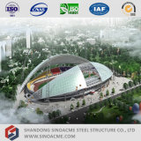 Sinoacmeは大きいスパンの鉄骨構造の競技場の屋根ふきを組立て式に作った