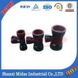 Epoxy Peint / Bitumen peinte Fitting fonte ductile Double Socket Bend pipe