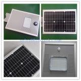 5 anos de garantia piscina 70W-80W-90W-100W alimentada a energia solar integrada Rua LED de luz com sensor de movimentos PIR