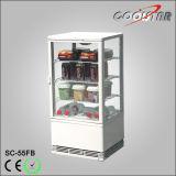 싱크대 4개의 유리 문 청량 음료 전시 냉장 진열장 (SC-55FB)