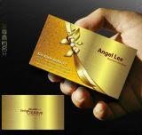 Scheda dorata metallica del PVC del membro