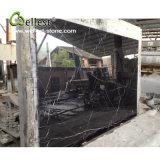 Brames de marbre noires noires de Marquina Nero Marquina avec les veines blanches