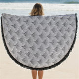 De Katoenen van 100% rond Afgedrukte Handdoek van het Strand met Leeswijzers
