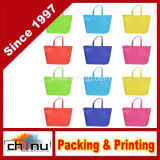 Le paquet assorti colore les gosses réutilisables non-tissés portant le sac d'emballage d'épicerie d'achats pour la faveur d'usager (920076)
