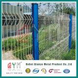 曲線の網の塀は/溶接された金網ハイウェイの塀に電流を通した