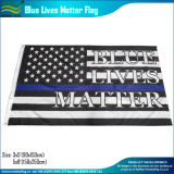 American Polyester Black White Thin Blue Line Bandeira da polícia (J-NF05F09328)
