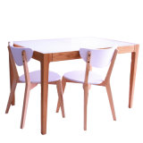 MDF Top Table 2013年のNewとのフランスStyle Dining Table Solid Wood Frame