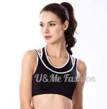 Бюстгальтер одеяния противоударной безшовной йоги пригодности спорта установленный сексуальный перекрестный