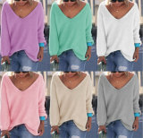 Ganchillo colorido del suéter Anti-Pilling/del suéter del cuello de las señoras que hace punto V