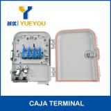 Поляк/коробка распределения оптического волокна держателя 8 стены Port для 8 кабелей падения