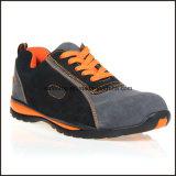 Calçados de segurança para senhoras de estilo sapatos de couro genuíno